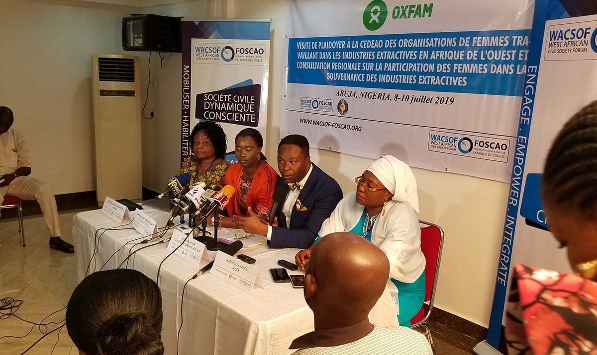 WACSOF Conducted an Advocacy Visit to Ecowas with Women in Extractive Industry with Oxfam