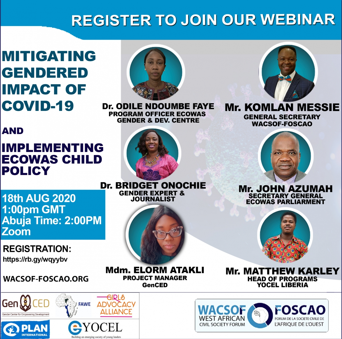 WEBINAR ON MITIGATING THE GENDERED IMPACT OF COVID-19 AND IMPLEMENTING THE ECOWAS CHILD POLICY