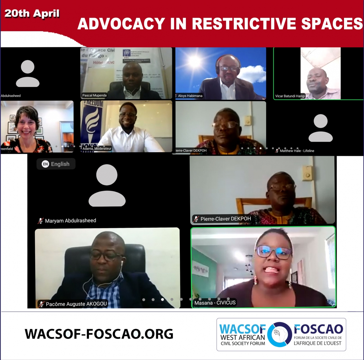 ADVOCACY IN RESTRICTIVE SPACES