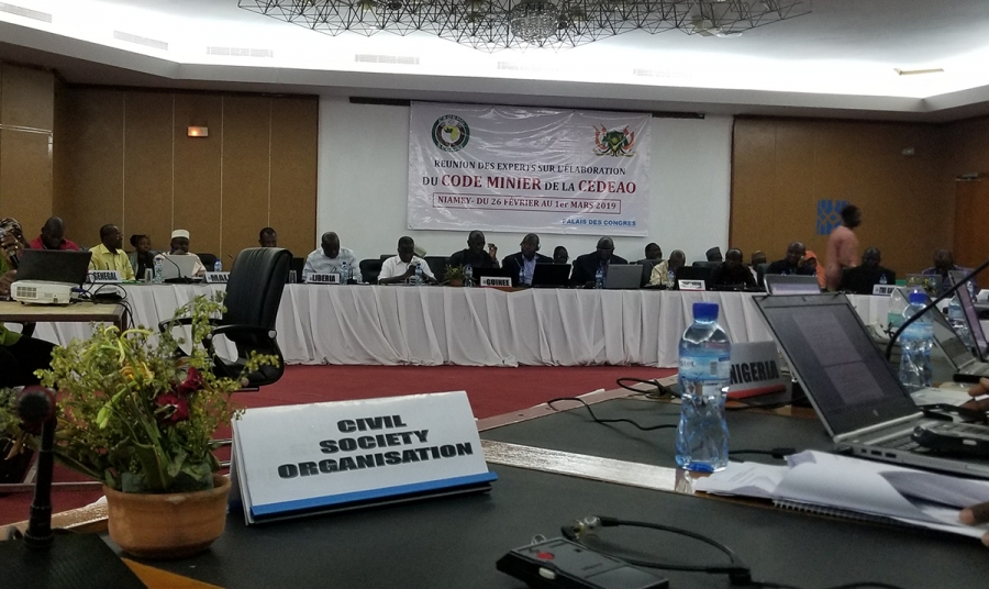 WACSOF'S GENERAL SECRETARY MR. KOMLAN MESSIE PARTICIPATED TO EXPERTS MEETING ON ECOWAS HARMONISED MINING POLICY  IN NIAMEY, NIGER